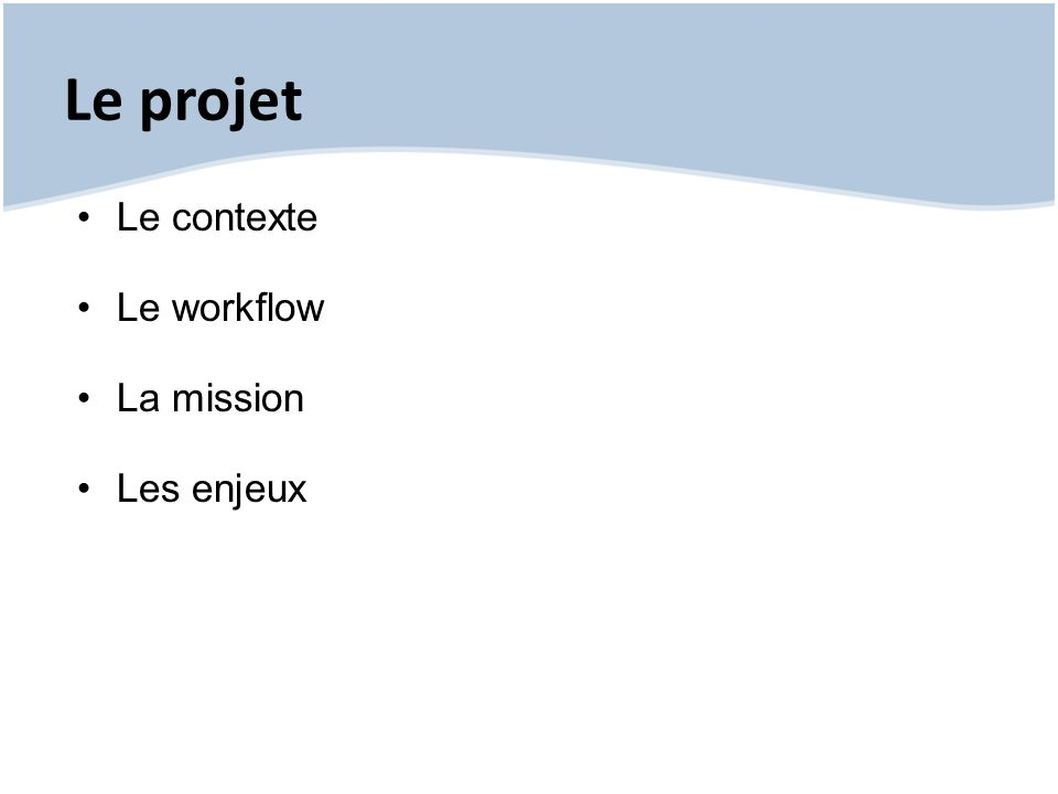 L application : les livrables livrables : o code source o scripts de création de la base de données o guide d intégration technique o rapport technique