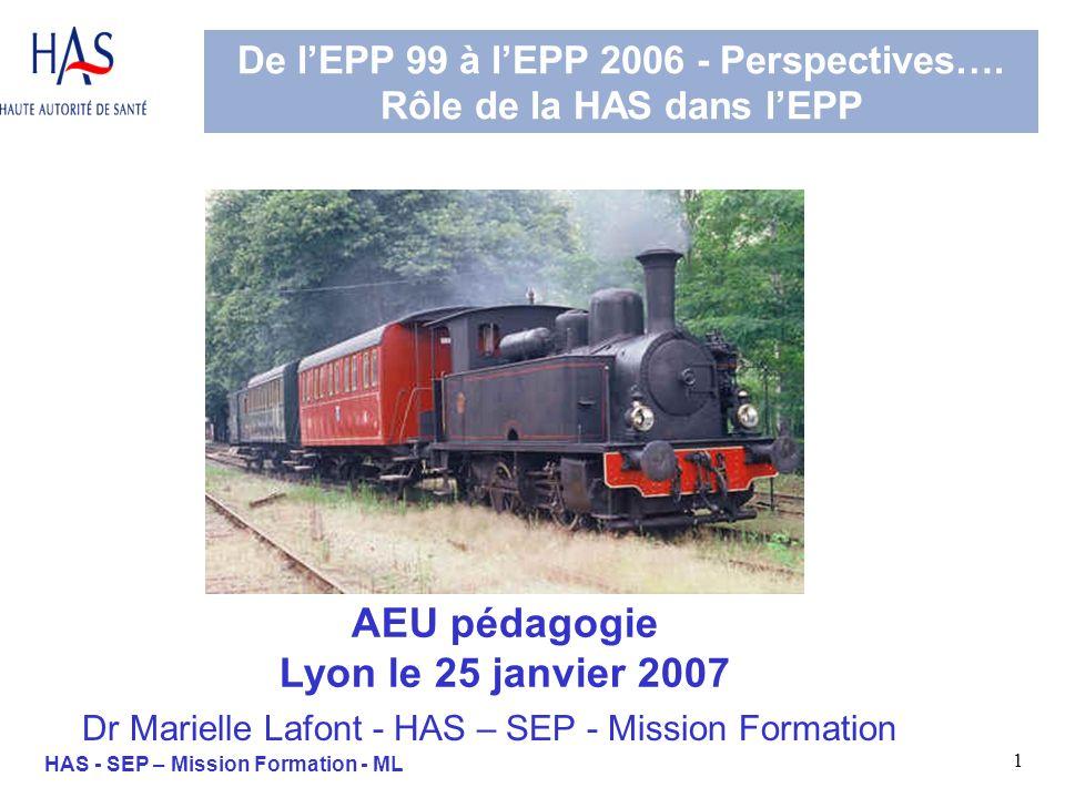 32 HAS - SEP – Mission Formation - ML VI. Approches et principes de lEPP