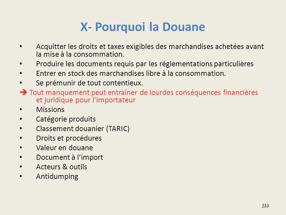 X- Pourquoi la Douane Acquitter les droits et taxes exigibles des marchandises achetées avant la mise à la consommation. Produire les documents requis
