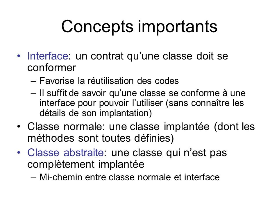 Utiliser une interface 01: /** 02: This program tests the DataSet class.