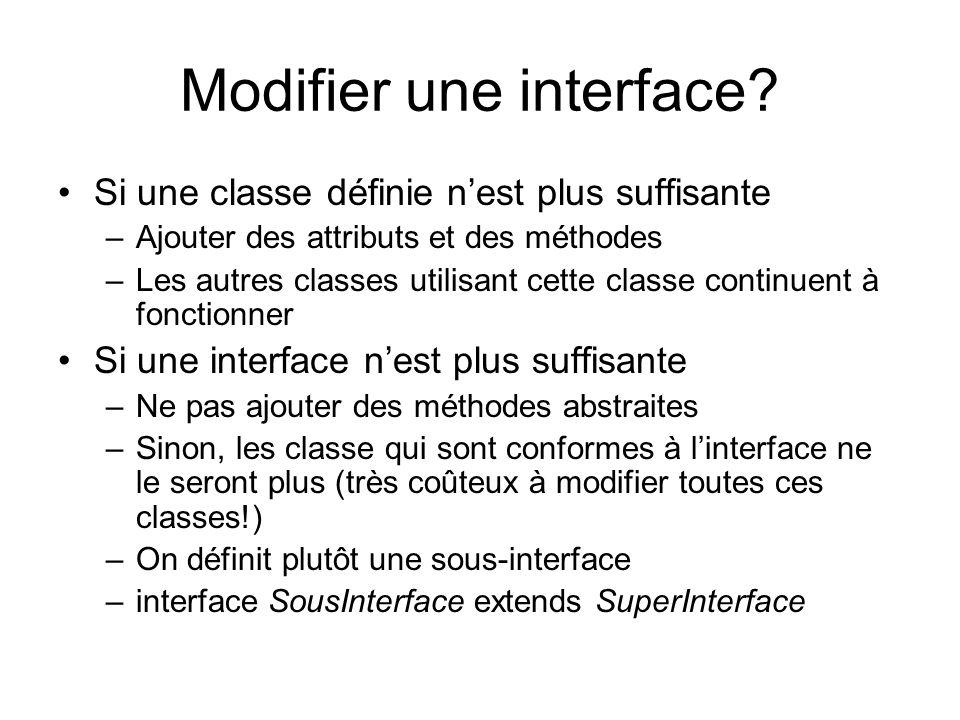 Modifier une interface.