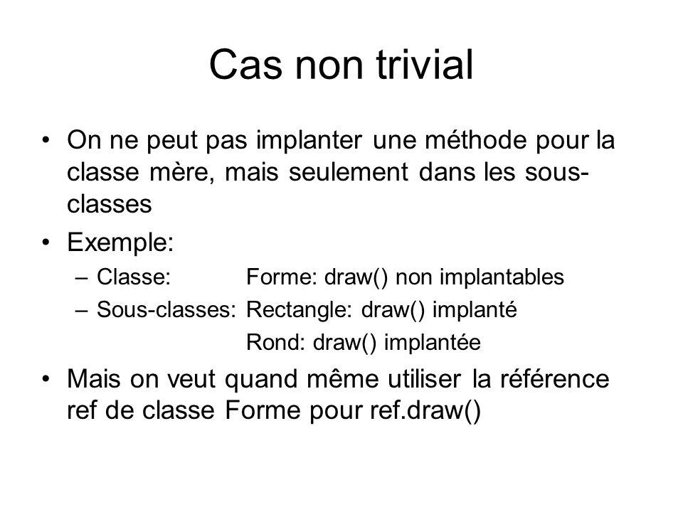 Classe abstraite vs.