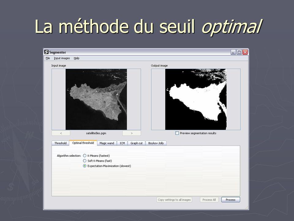 La méthode de la baguette magique Utilisateur doit choisir un pixel source ainsi quune valeur de tolérance.