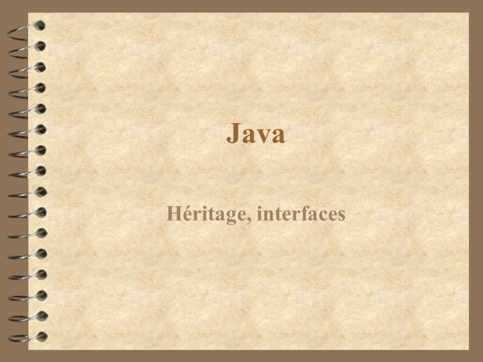 Java Héritage, interfaces