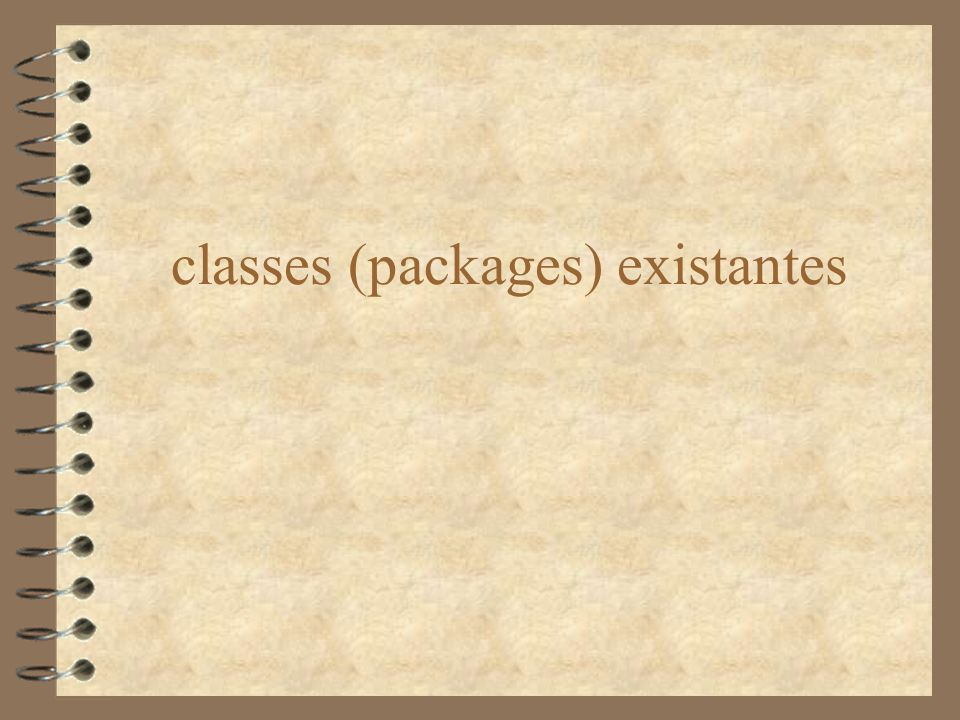 classes (packages) existantes
