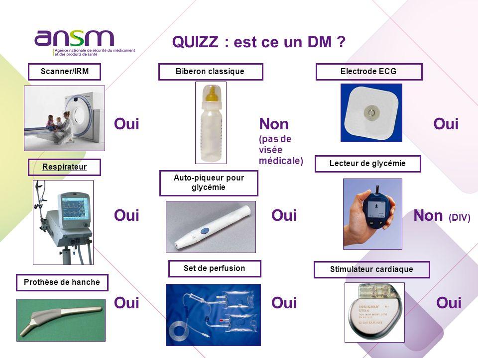 Scanner/IRM OuiNon (pas de visée médicale) Biberon classiqueElectrode ECG Oui Respirateur Set de perfusion Prothèse de hanche Auto-piqueur pour glycém