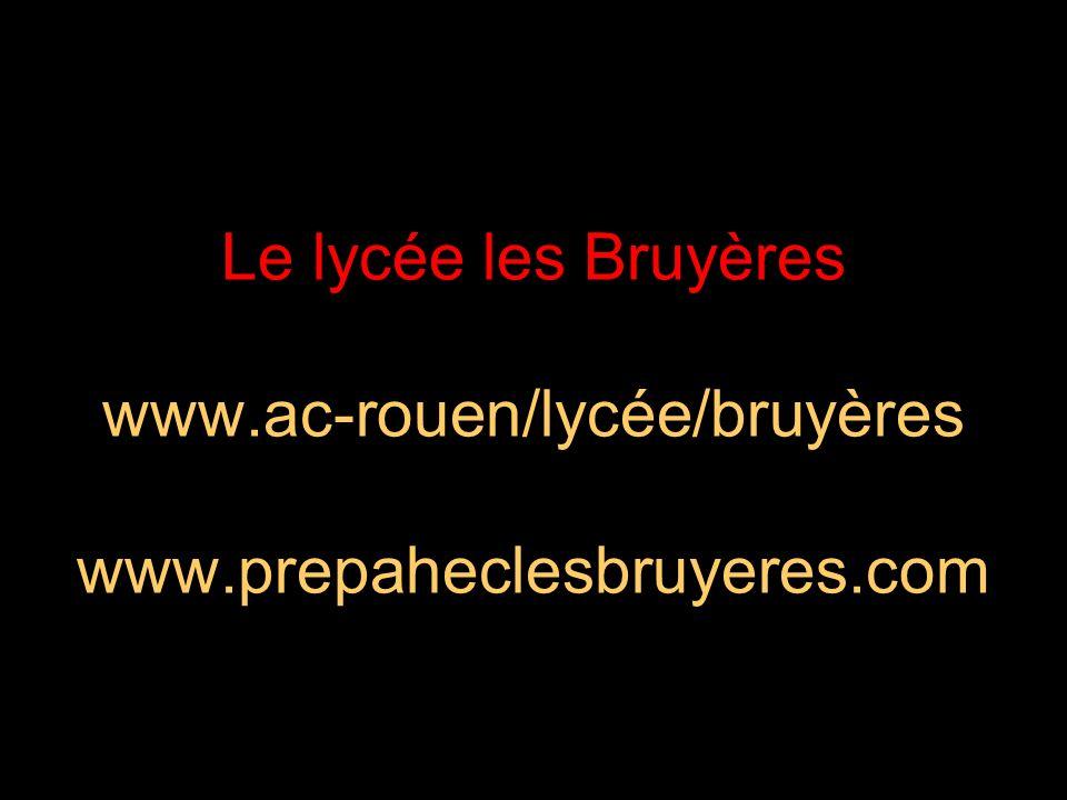 21/05/2014 Trois sites indispensables Le site du lycée des Bruyères –www.ac-rouen/lycee/bruyeres Le site des inscriptions –www.admission-postbac.fr Le site de lassociation –www.prepaheclesbruyeres.com