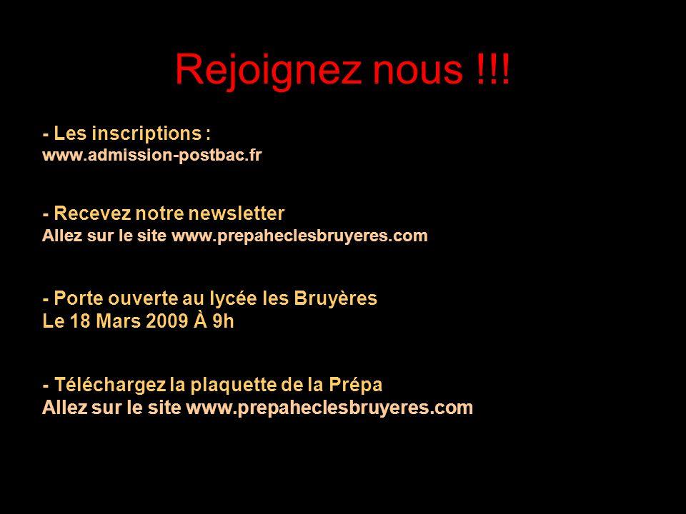 21/05/2014 Des sponsors prestigieux !