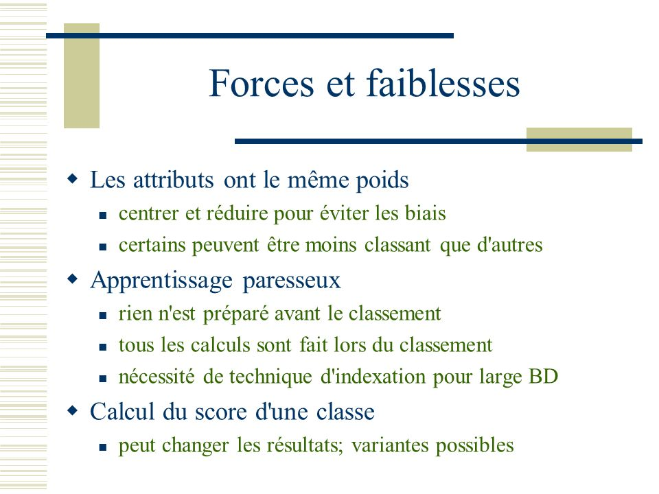 Exemple: Partitions de table (5) outlook overcastsunnyrain humidity highnormal NP P windy truefalse NP