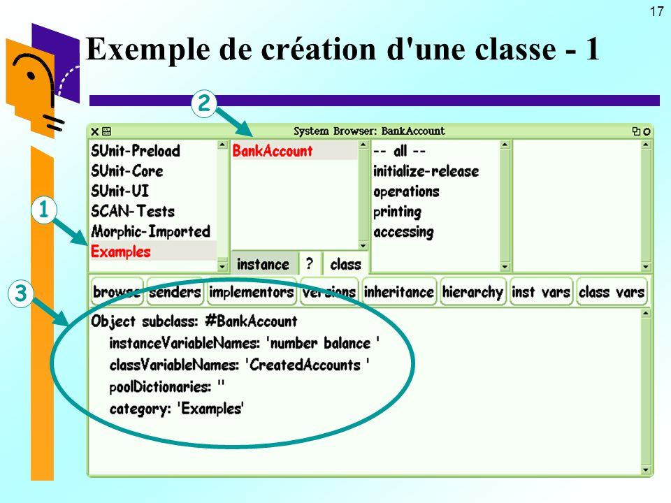 17 Exemple de création d une classe - 1 123