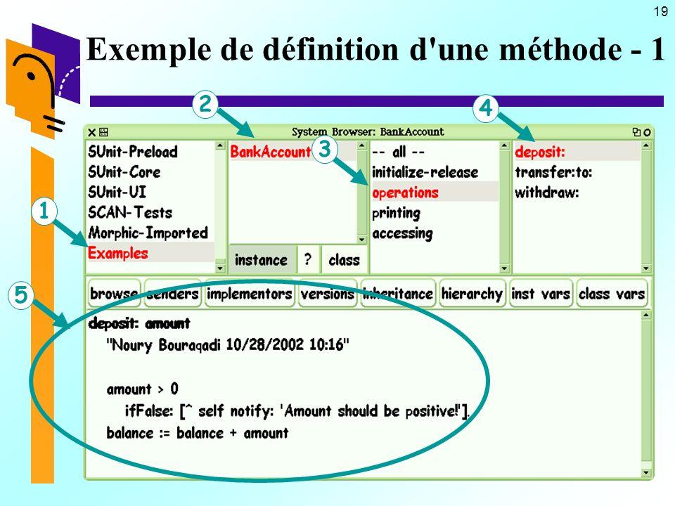19 Exemple de définition d une méthode - 1 12534
