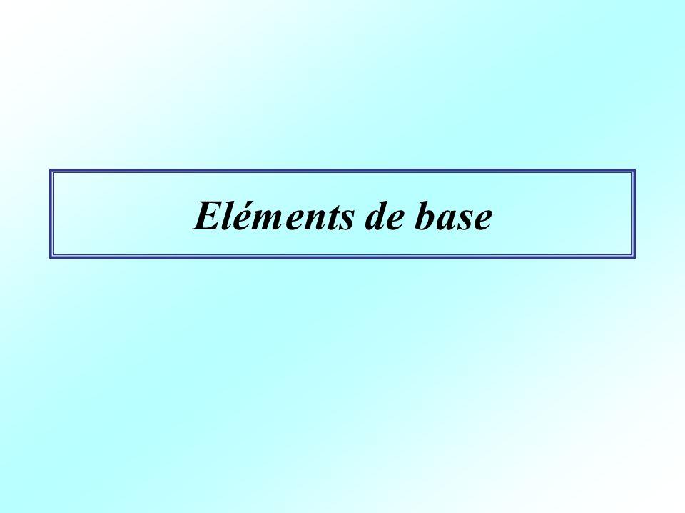 Eléments de base