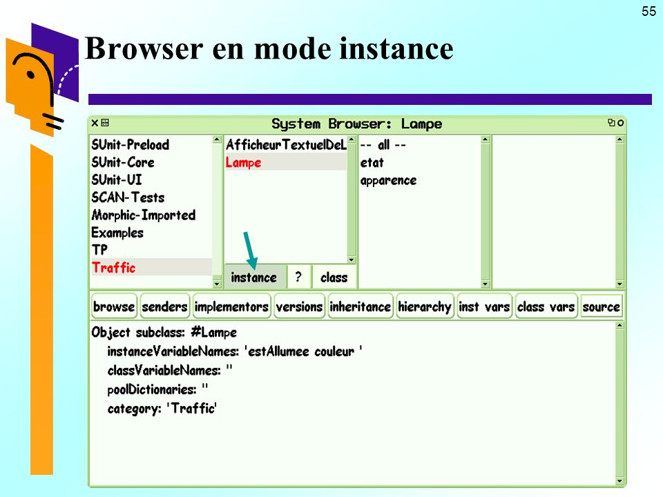 55 Browser en mode instance