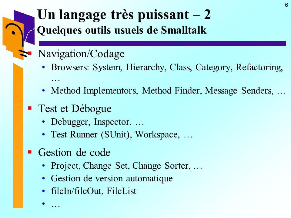 87 Créer des pages par imbrication Exemple de liste de compteur - 2 renderOn: html  titre  titre := Nbre de compteurs , compteurs size printString.