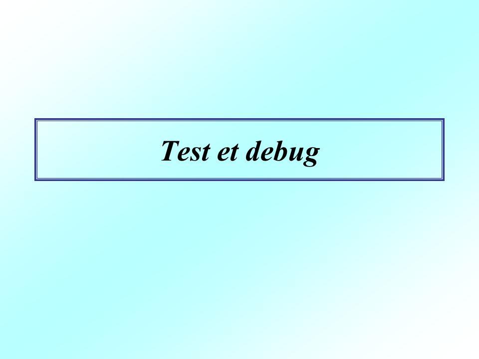 Test et debug