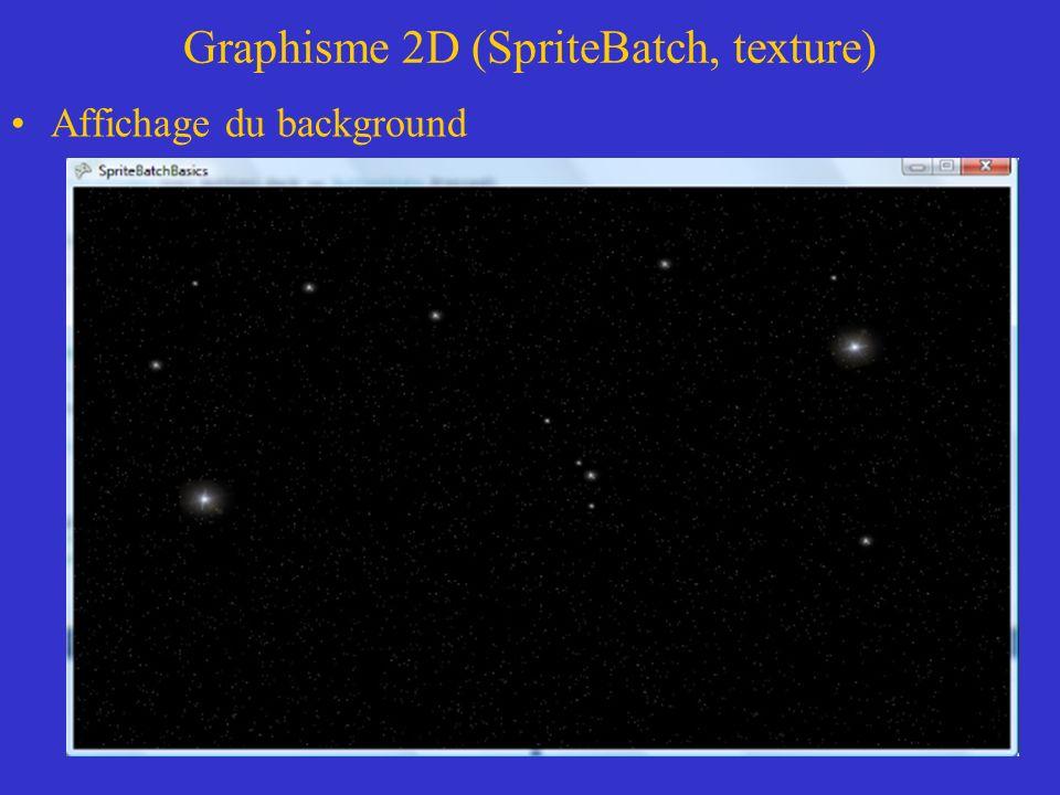 Graphisme 2D (SpriteBatch, texture) Code du générateur de particule de la classe ParticuleEngine