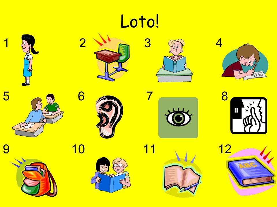 Loto! 1 2 3 4 5 6 7 8 9 10 11 12