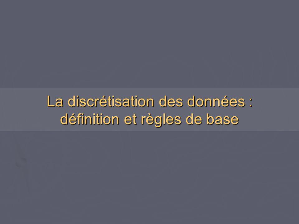 La discrétisation des données : définition et règles de base