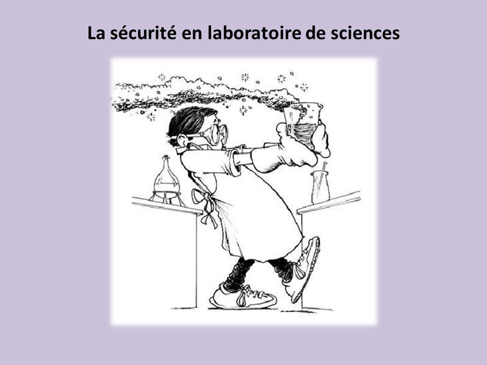 La sécurité en laboratoire de sciences