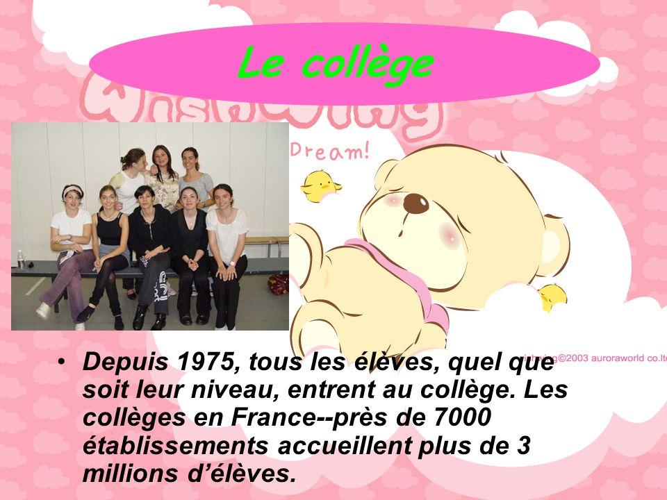 La scolarité CP(Cours Préparatoire), CE1(Cours Elementaire 1ère année), CE2, CM1(Cours Moyen 1ère année) CM2. Les cours le français les mathématiques