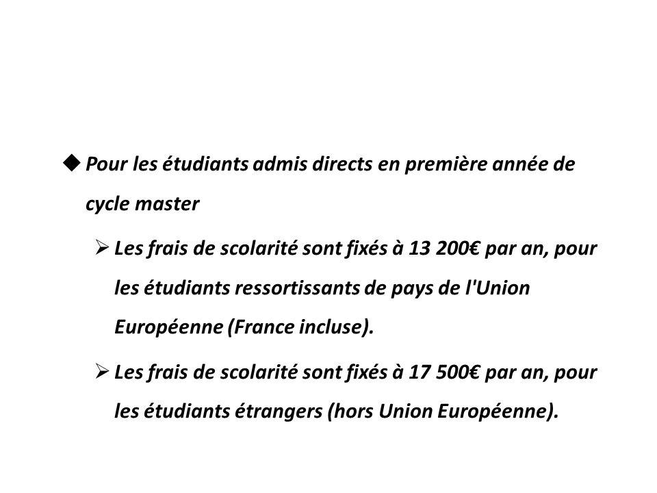Frais de scolarité Pour un étudiant entrant à HEC École des hautes études commerciales de Paris en 2011/2012, les droits de scolarité sont fixés à : P
