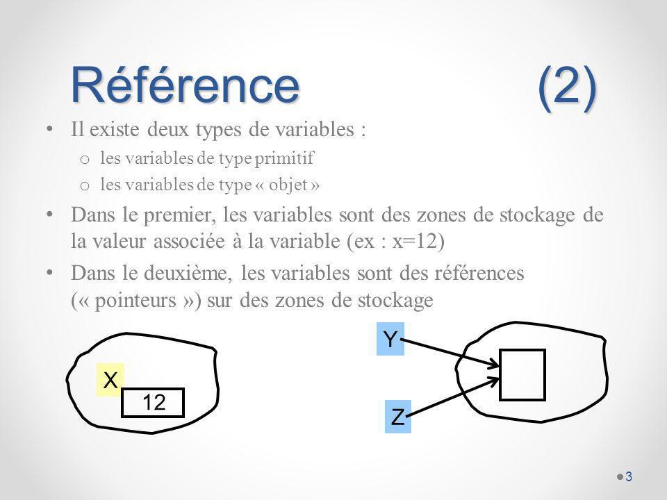 Passage des paramètres Le mode de passage des paramètres dans les méthodes dépend de la nature des paramètres : o par référence pour les objets o par copie pour les types primitifs public class C { void methode1(int i, StringBuffer s) { i++; s.append( d ); } void methode2() { int a= 0; StringBuffer str = new StringBuffer( abc ); methode1(a, str); System.out.println(a= + a + , str= + str); // a=0, str=abcd } 4