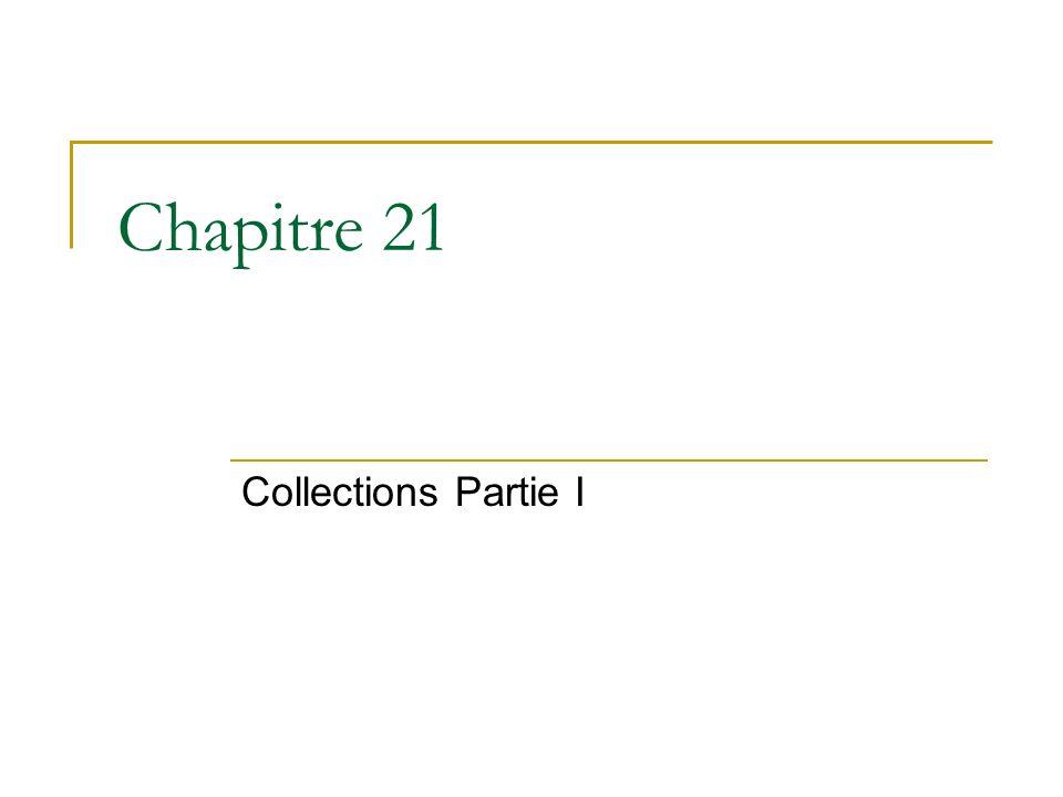 Chapitre 21 Collections Partie I