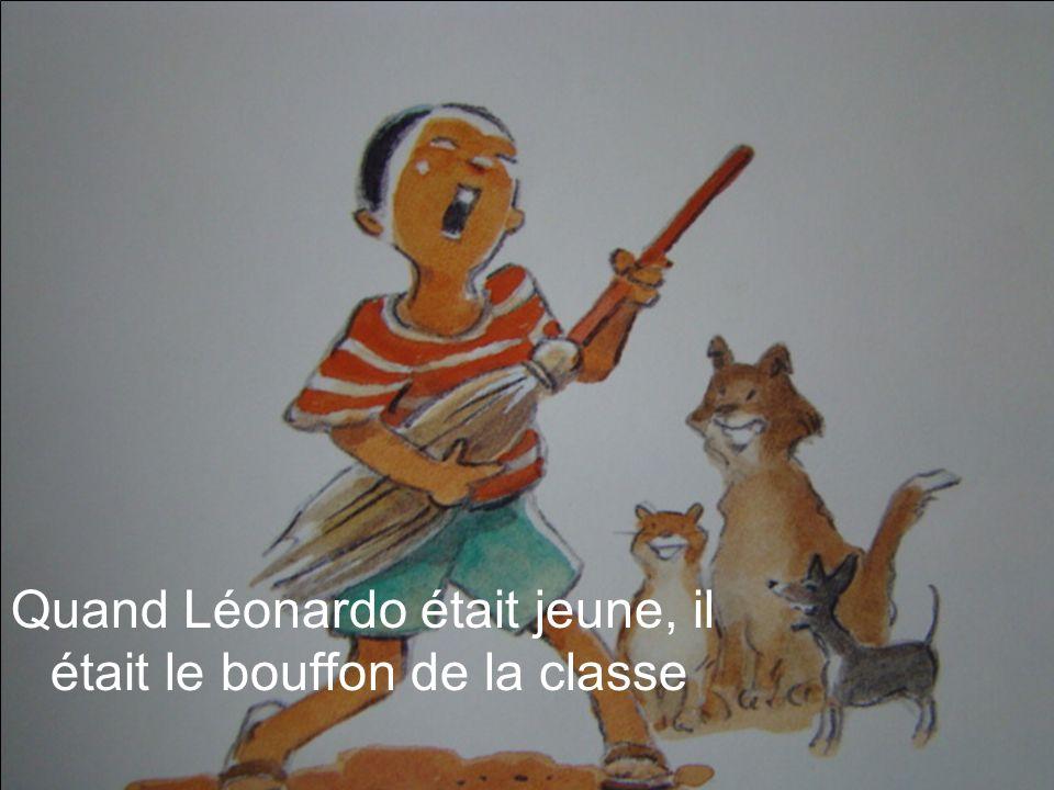 Quand Léonardo a montré une photo comique de Mme Blanc, personne ne riait.