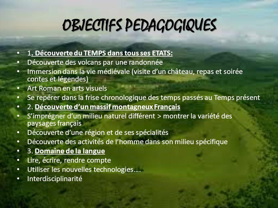 OBJECTIFS PEDAGOGIQUES 1.