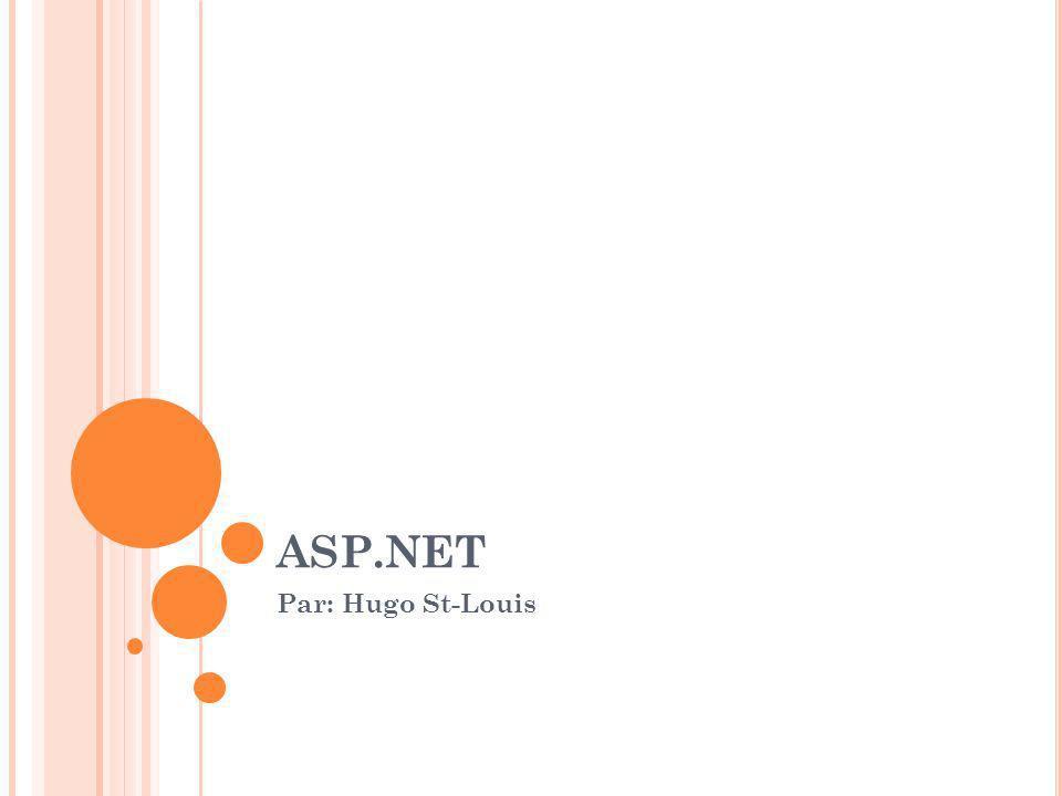 ASP.NET Par: Hugo St-Louis