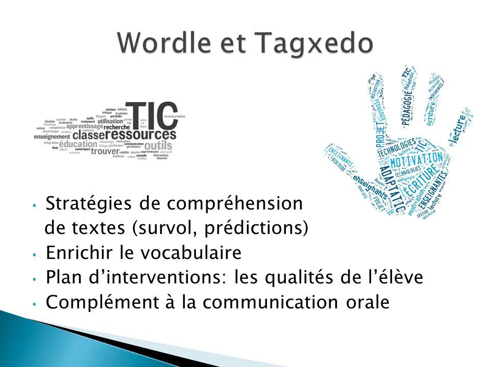 Stratégies de compréhension de textes (survol, prédictions) Enrichir le vocabulaire Plan dinterventions: les qualités de lélève Complément à la commun