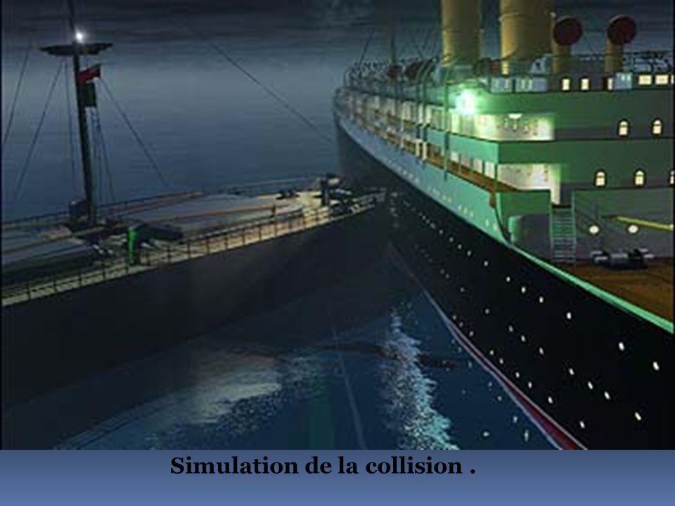 La collision en dessin.
