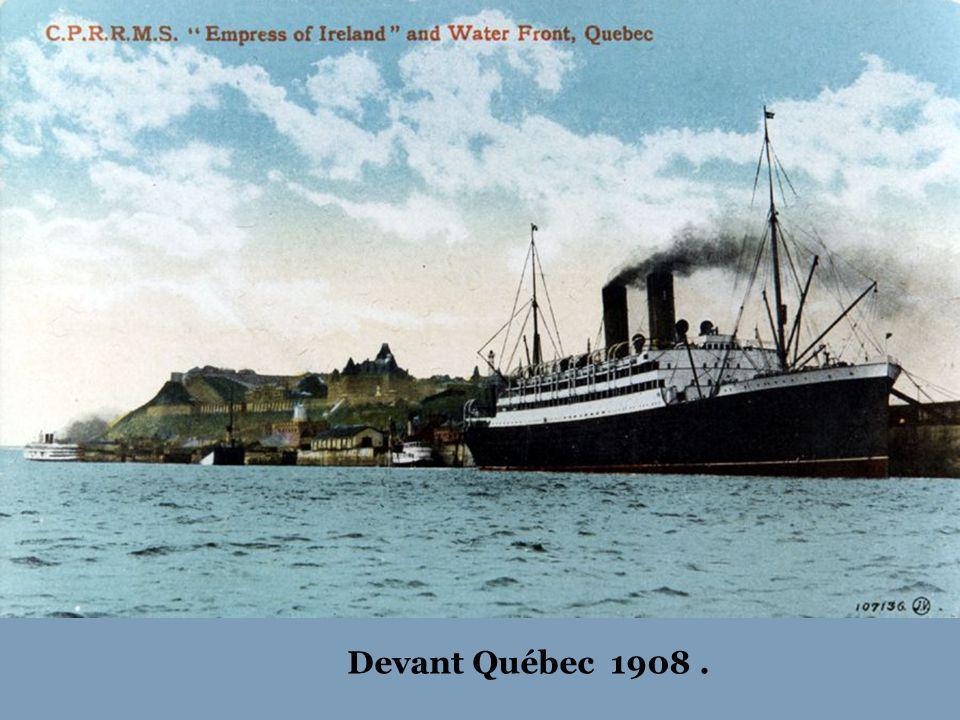 Son premier voyage inaugural en 1906 à Québec.