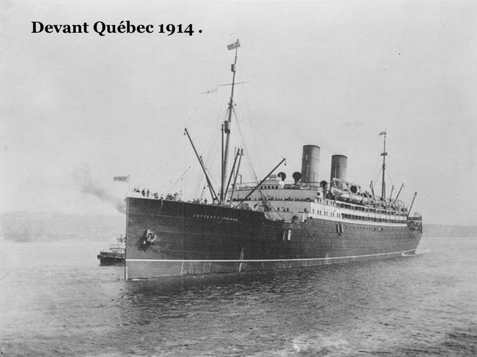 Devant Québec 1908.