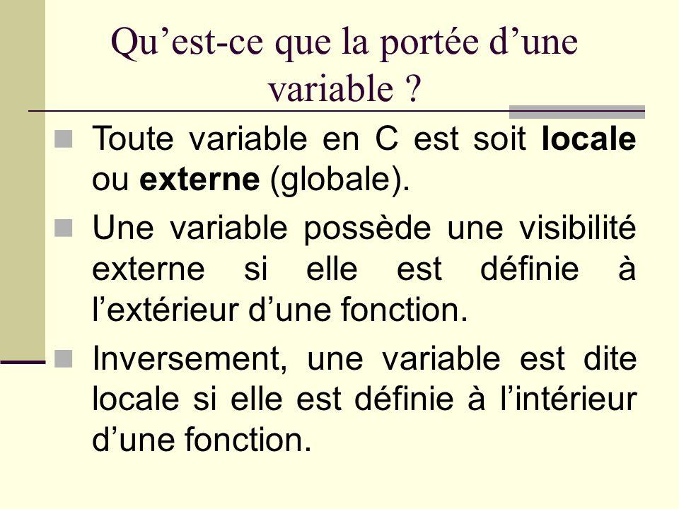 Le nom « classe dallocation » na aucun rapport avec la notion de classe de la programmation objet.