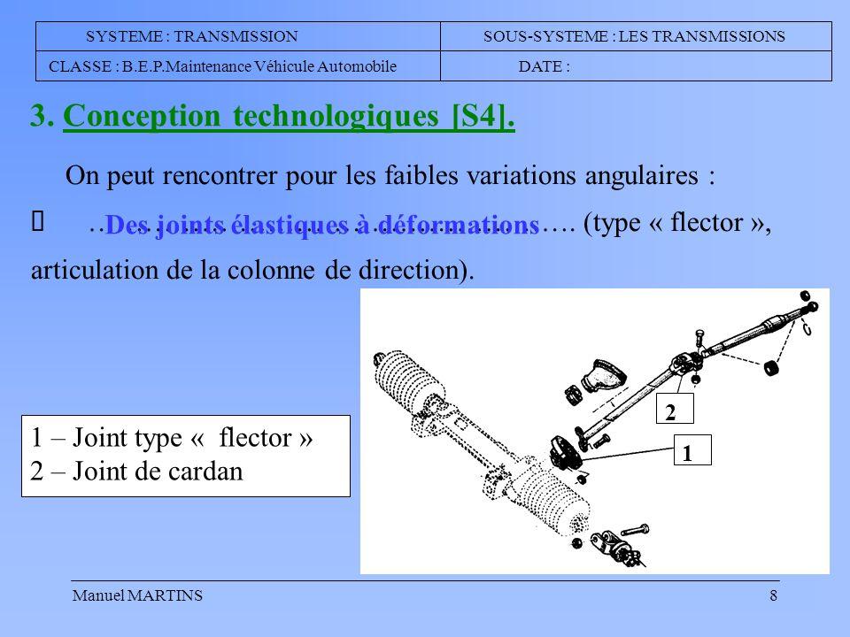 Manuel MARTINS8 …………………………………………….(type « flector », articulation de la colonne de direction).