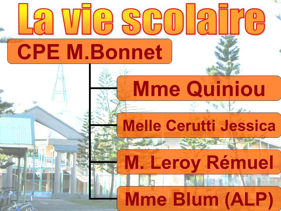 CPE M.Bonnet Mme Quiniou Melle Cerutti Jessica M. Leroy Rémuel Mme Blum (ALP)