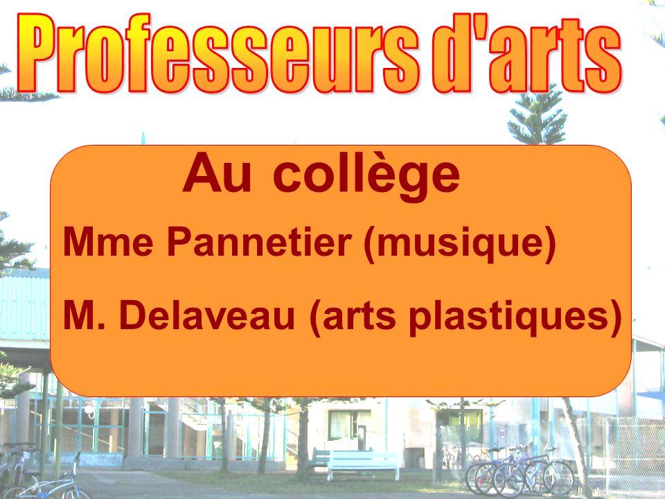 Au collège Mme Pannetier (musique) M. Delaveau (arts plastiques)