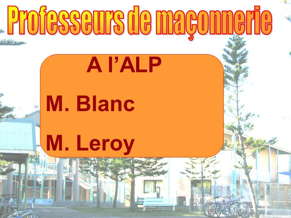 A lALP M. Blanc M. Leroy