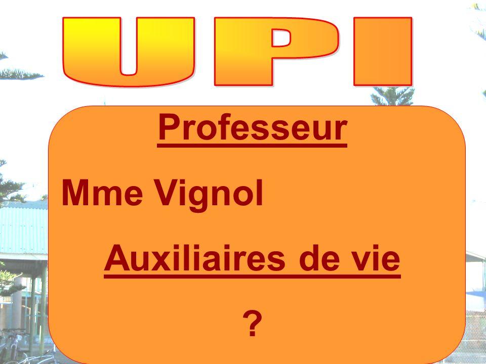 Professeur Mme Vignol Auxiliaires de vie