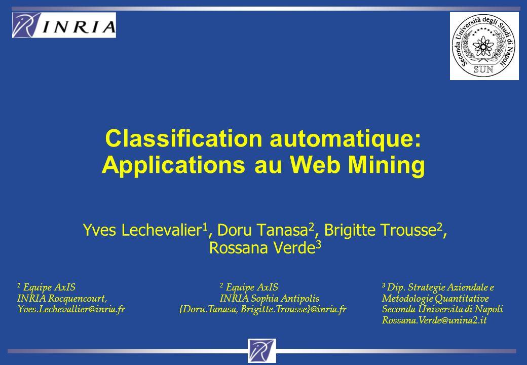 Interprétation de la classe (4/7) CLASSE 4 / 7 +--------+-------+-------------------+-------------------+---------------------+   V.TEST   PROBA   MOYENNES   ECARTS TYPES         CLASSE GENERALE   CLASSE GENERAL   NUM.LIBELLE +--------+-------+-------------------+-------------------+---------------------+   CLASSE 4 / 7 EFFECTIF = 2032 )   74.35   0.000   0.59 0.22   0.19 0.25   10.Repetition   17.39   0.000   19.06 11.57   32.28 21.81   2.www-sop   14.77   0.000   98.16 94.91   4.25 11.15   5.PRequest_SEL   11.45   0.000   52.87 43.42   45.03 41.85   4.Pww-sop   7.44   0.000   36.27 28.29   41.59 54.37   8.NBrequest             -13.62   0.000   38.03 53.73   30.89 58.43   13.MDurée_OK +--------+-------+-------------------+-------------------+---------------------+ -------------------------------------------------------------------------------- V.TEST PROBA ---- POURCENTAGES ---- MODALITES CLA/MOD MOD/CLA GLOBAL CARACTERISTIQUES DES VARIABLES -------------------------------------------------------------------------------- 20.97 CLASSE 4 / 7 6.49 0.000 23.07 67.91 61.72 MS Internet Explorer User_Agent 5.59 0.000 22.32 78.84 74.06 Windows User_System 2.44 0.007 21.96 53.64 51.22 fr Pays --------------------------------------------------------------------------------