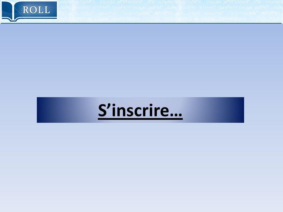 Sinscrire…