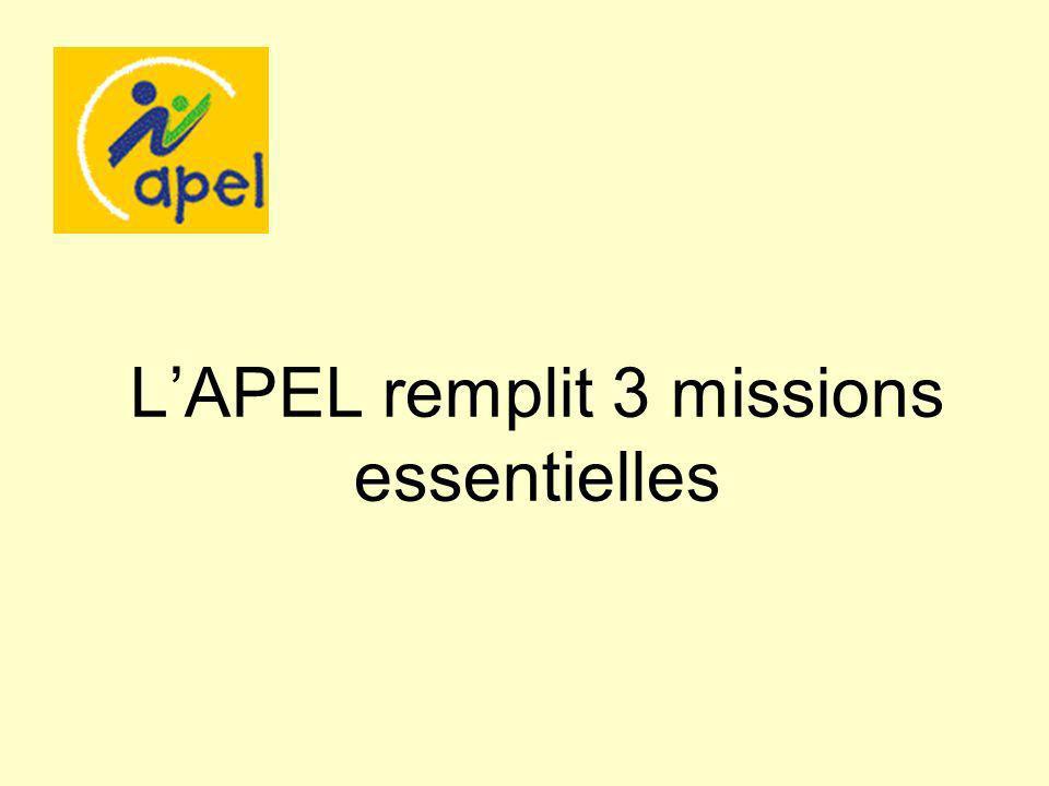 LAPEL remplit 3 missions essentielles