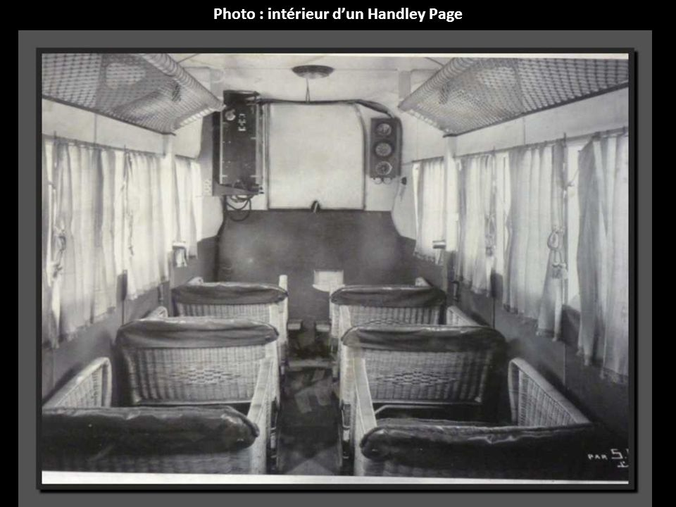 Photo : intérieur dun Handley Page