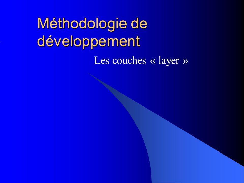 Méthodologie de développement Les couches « layer »