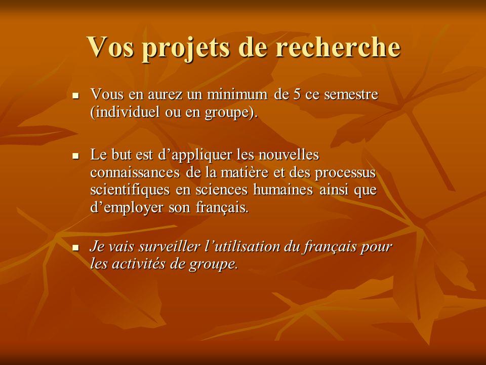 Votre projet final Votre projet final est de créer une exposition de classe qui célèbre lidentité canadienne.