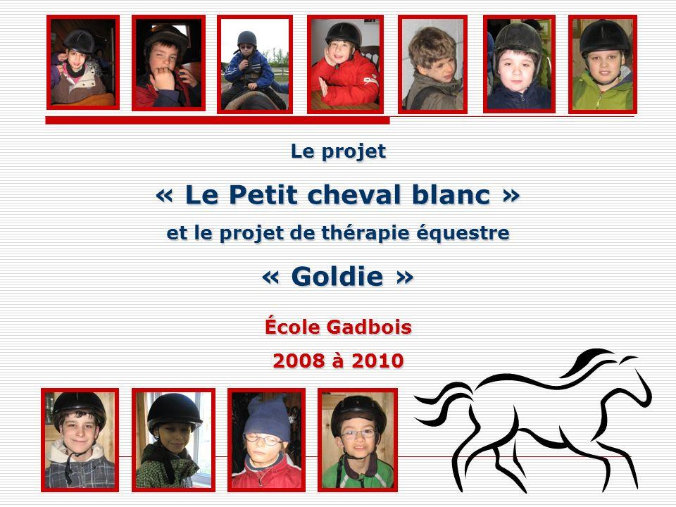 Le projet « Le Petit cheval blanc » et le projet de thérapie équestre « Goldie » École Gadbois 2008 à 2010