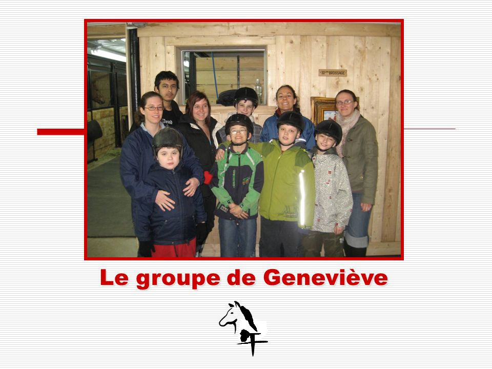 Le groupe de Geneviève