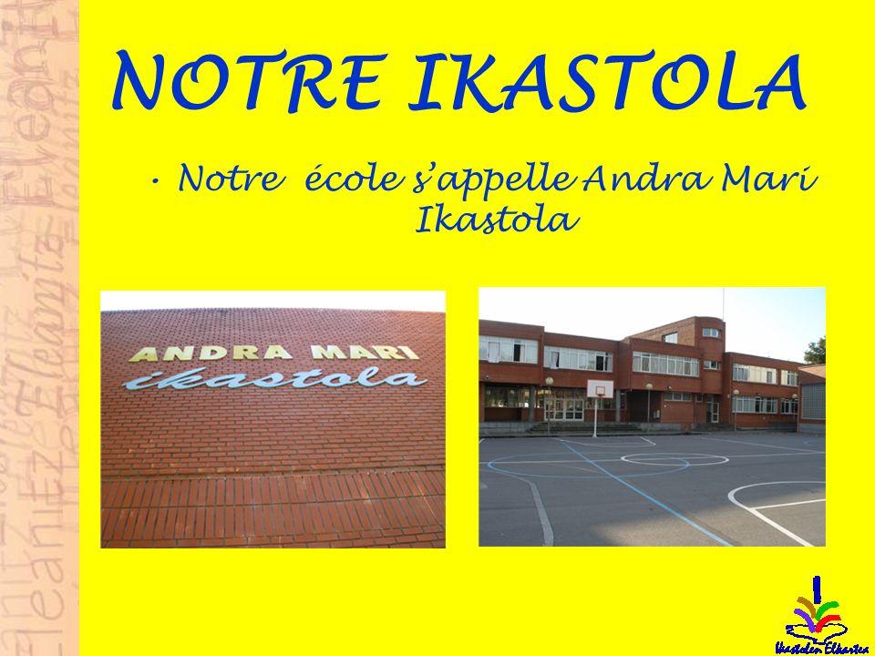 NOTRE IKASTOLA Notre école sappelle Andra Mari Ikastola