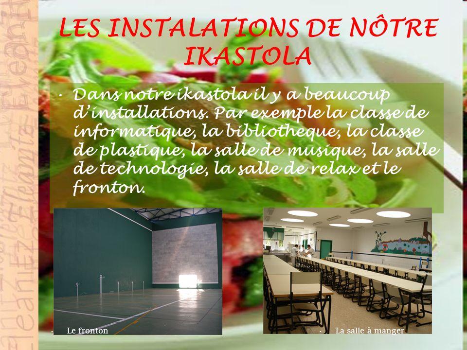 LES INSTALATIONS DE NÔTRE IKASTOLA Dans notre ikastola il y a beaucoup dinstallations.